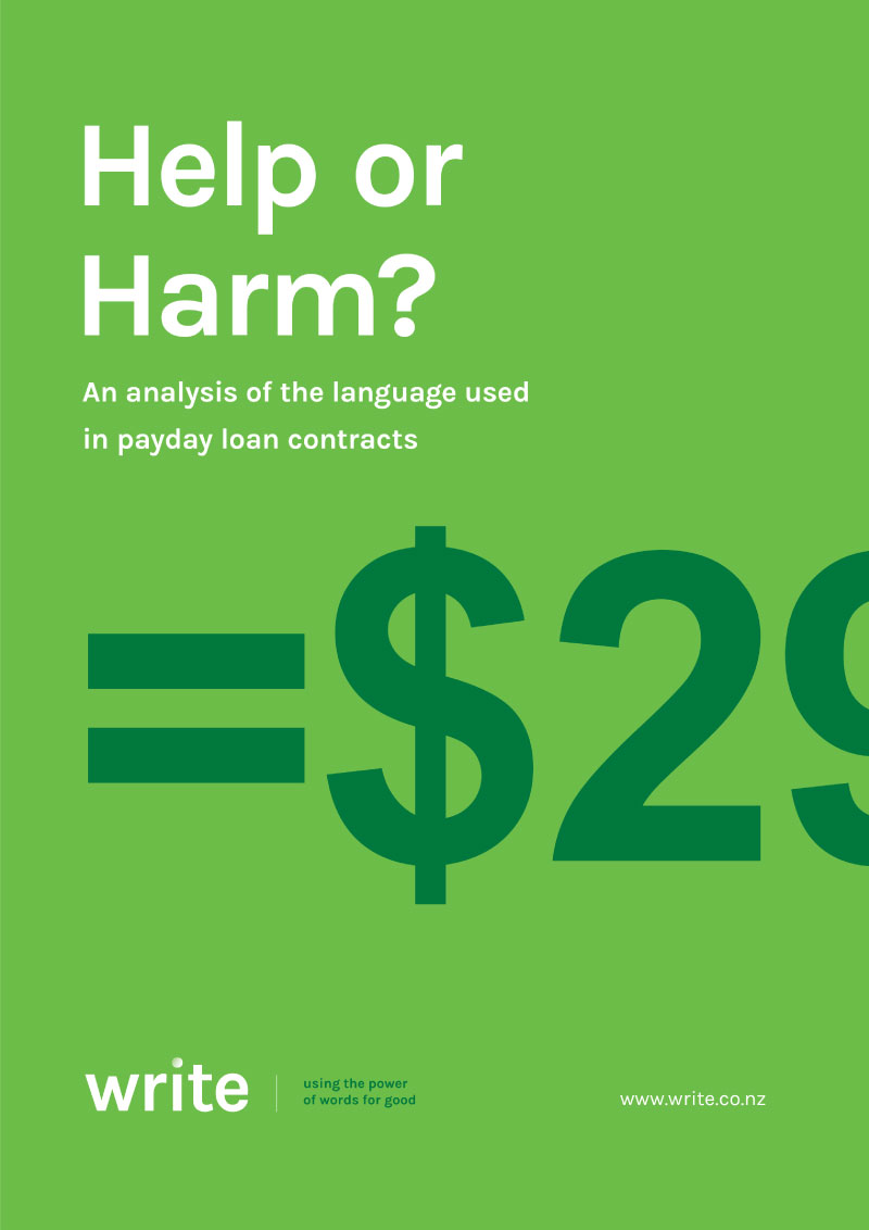 White Paper - Help or Harm? An analysis of the language used in payday loan contracts